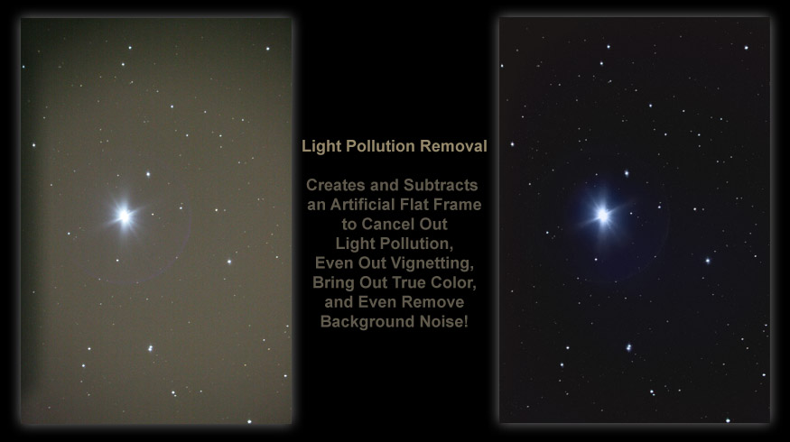 [Light Pollution Removal Dramatically Increases Contrast and Brings out the Subject Material]