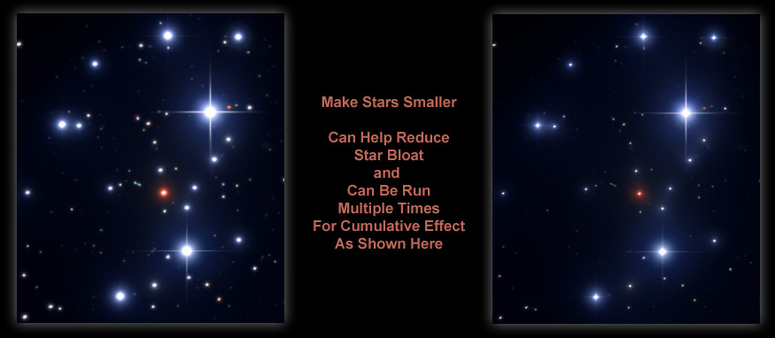 [Star size reduction.]